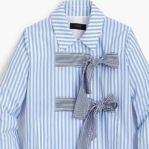 J. Crew Rhonda Mixed Stripe Bow Jacket
